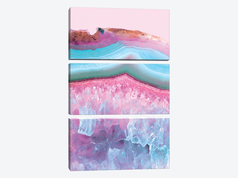 Pastel Agate by Emanuela Carratoni 3-piece Art Print