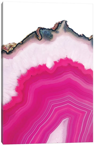 Pink Agate Slice Canvas Art Print