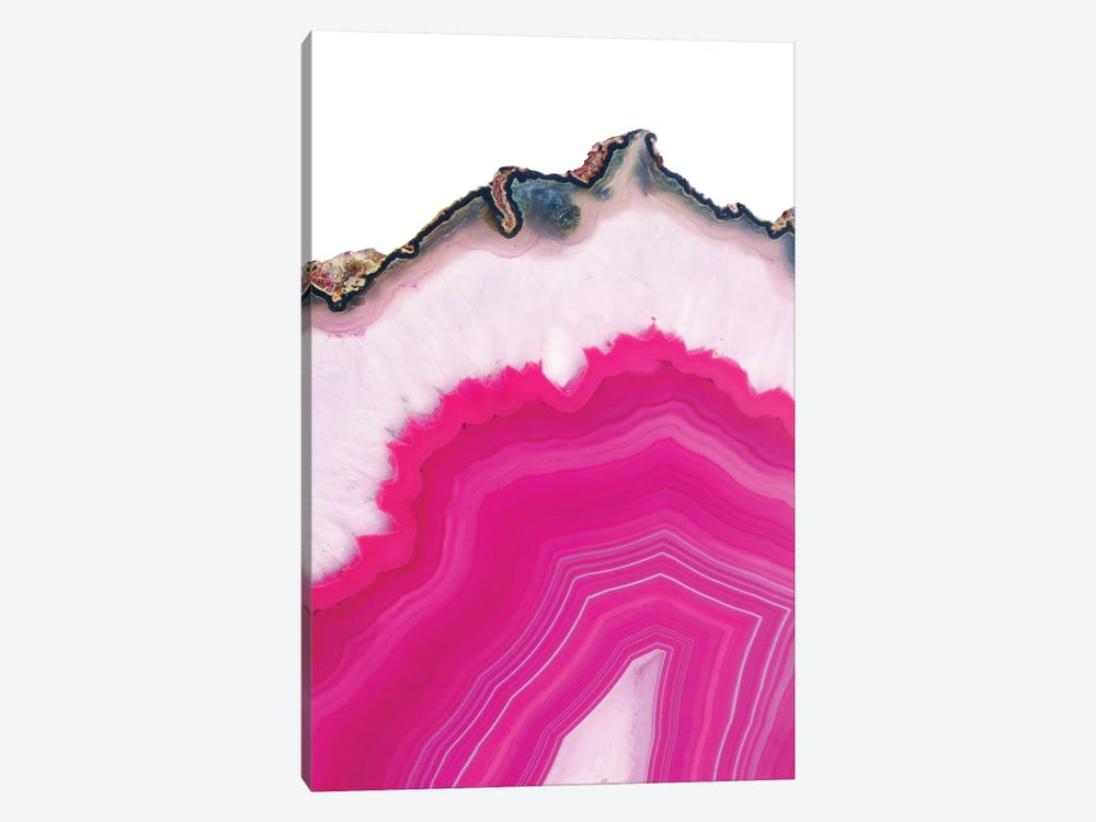 Pink Agate Slice 1-piece Canvas Art Print