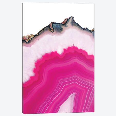 Pink Agate Slice Canvas Print #CTI68} by Emanuela Carratoni Canvas Artwork