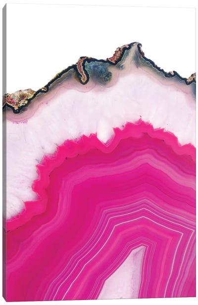 Pink Agate Slice Canvas Art Print