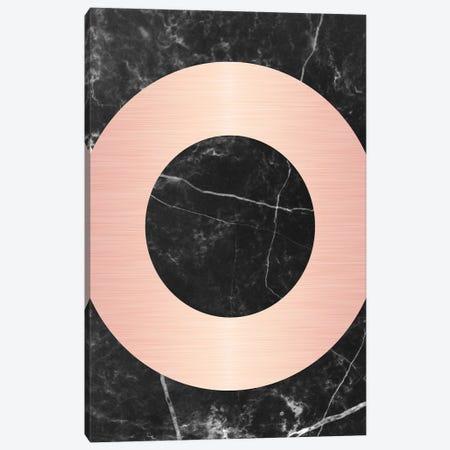 Pink Circle On Marble Canvas Print #CTI70} by Emanuela Carratoni Art Print