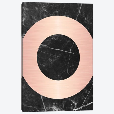 Pink Circle On Marble Canvas Print #CTI70} by Emanuela Carratoni Art Print