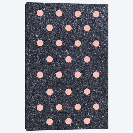 Pink Poka Dots On Shiny Background Canvas Print #CTI74} by Emanuela Carratoni Canvas Artwork