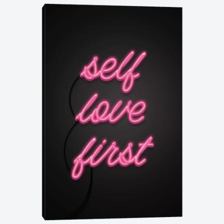 Self Love First Canvas Print #CTI82} by Emanuela Carratoni Canvas Artwork