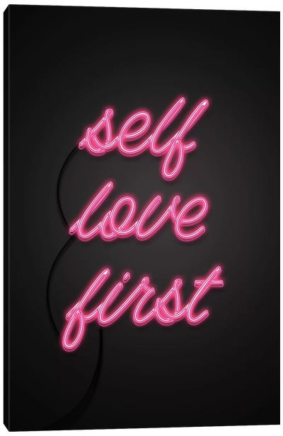 Self Love First Canvas Art Print