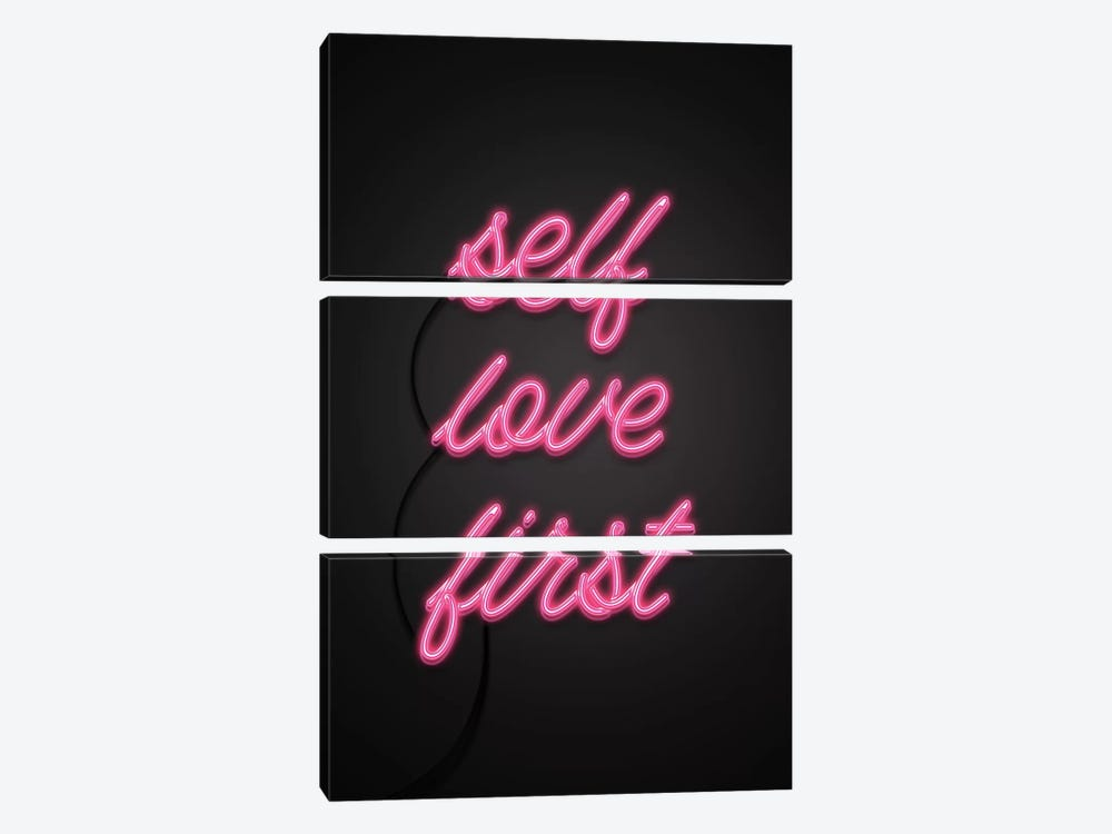 Self Love First by Emanuela Carratoni 3-piece Canvas Art Print