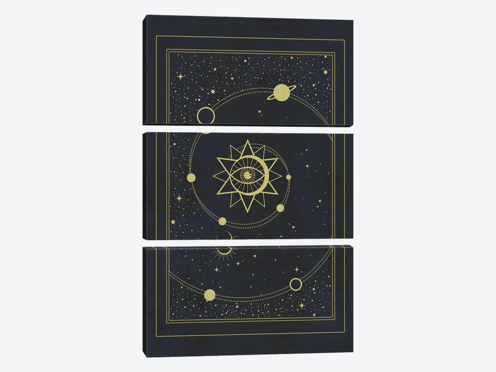 The Solar System by Emanuela Carratoni 3-piece Canvas Artwork