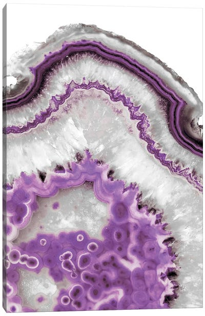 Ultraviolet Agate Canvas Art Print