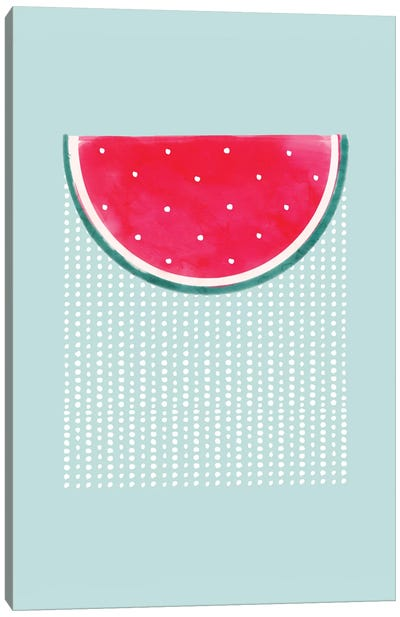 Watermelon Rain Canvas Art Print