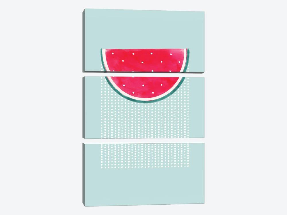 Watermelon Rain by Emanuela Carratoni 3-piece Canvas Print