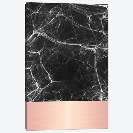 Black Marble With Pink Canvas Print #CTI9} by Emanuela Carratoni Canvas Artwork