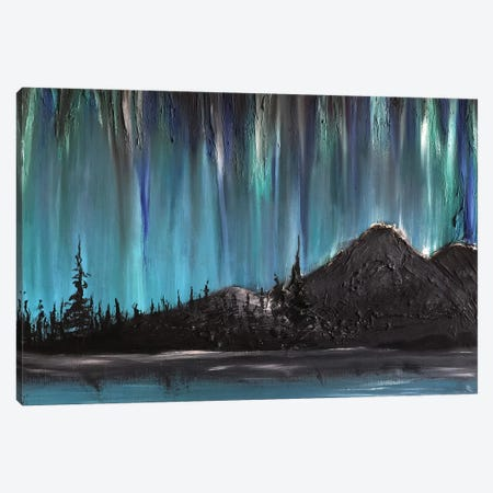 Nordlys Night 3-Piece Canvas #CTK14} by Christian Klingeler Canvas Wall Art