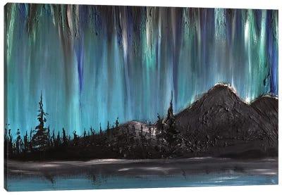 Nordlys Night Canvas Art Print