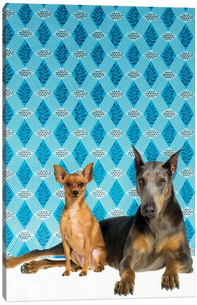 Two Dogs Final Canvas Art Print