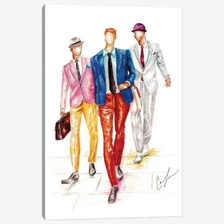 Boys Are Back In Town Canvas Print #CTM11} by Claire Thompson Canvas Art Print