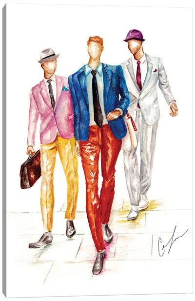 Boys Are Back In Town Canvas Art Print