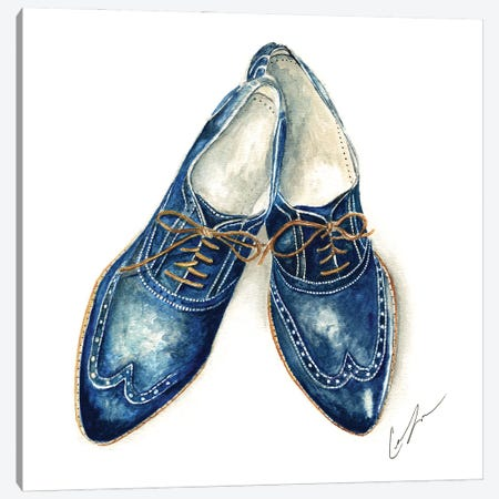 Cobalt Shoes Canvas Print #CTM15} by Claire Thompson Canvas Art