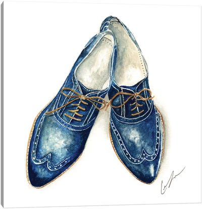 Cobalt Shoes Canvas Art Print
