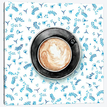 Coffee Patterns Canvas Print #CTM16} by Claire Thompson Canvas Artwork