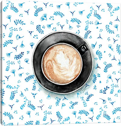 Coffee Patterns Canvas Art Print