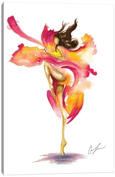 Dance On Fire Canvas Art Print