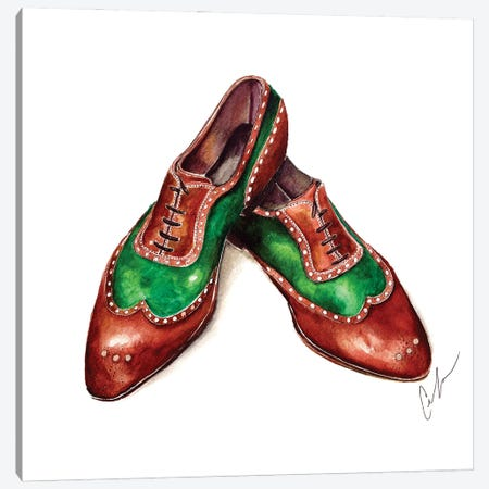 Emerald & Sandalwood Canvas Print #CTM19} by Claire Thompson Art Print