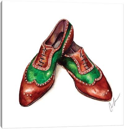 Emerald & Sandalwood Canvas Art Print