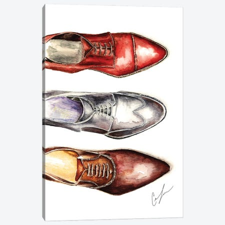 3 Shoes Canvas Print #CTM1} by Claire Thompson Canvas Wall Art