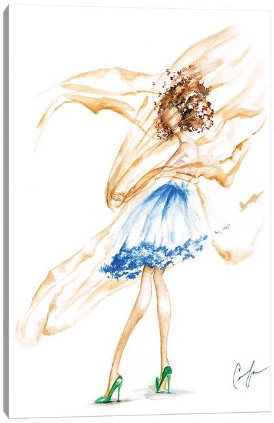 Fabric Wind Canvas Art Print
