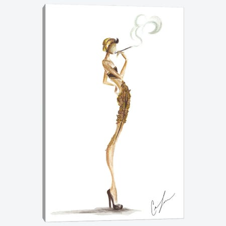 Gold Smoke Canvas Print #CTM23} by Claire Thompson Canvas Artwork