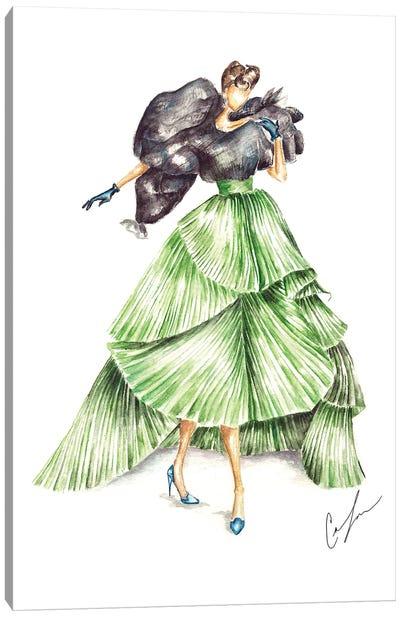 Green Dior Canvas Art Print