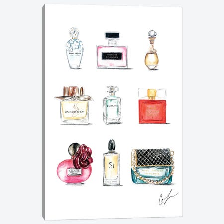 Perfumes Canvas Print #CTM29} by Claire Thompson Canvas Wall Art