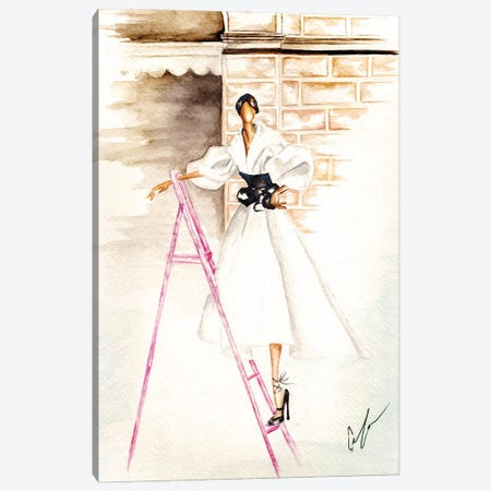 Pink Ladder Canvas Print #CTM30} by Claire Thompson Canvas Art Print