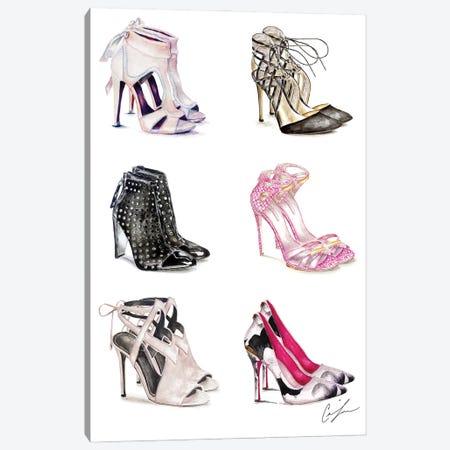 Shoe Heaven Canvas Print #CTM32} by Claire Thompson Canvas Art Print