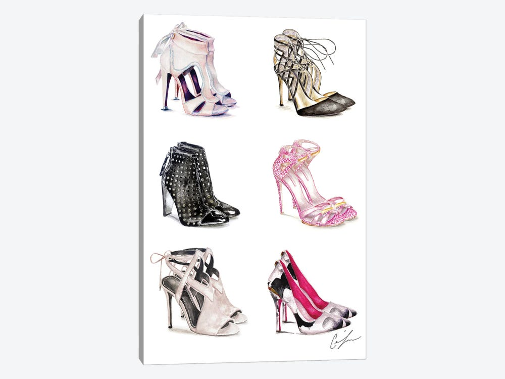 Shoe Heaven by Claire Thompson 1-piece Canvas Art Print