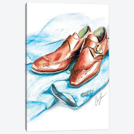Shoes And Tweed Canvas Print #CTM33} by Claire Thompson Art Print