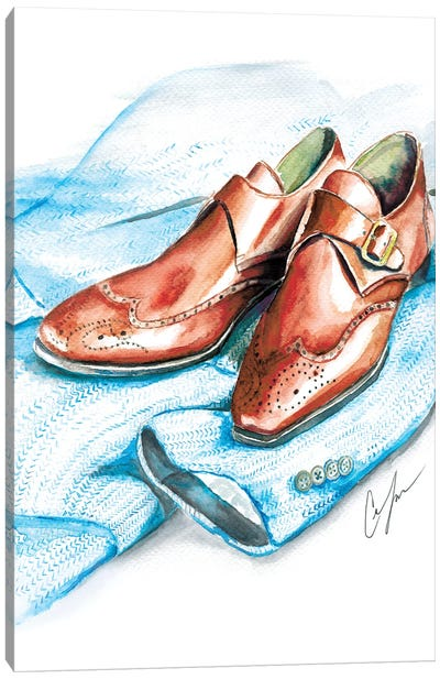 Shoes And Tweed Canvas Art Print
