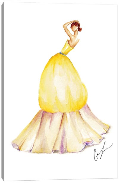 Yellow Tulip Canvas Art Print
