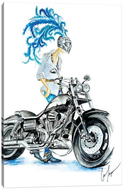 Biker Canvas Art Print