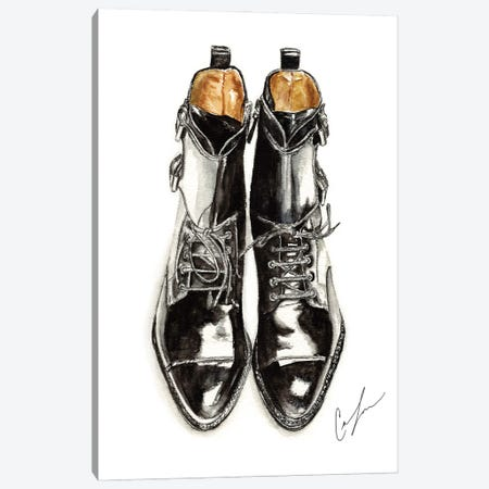 Black Boots Canvas Print #CTM5} by Claire Thompson Canvas Art Print