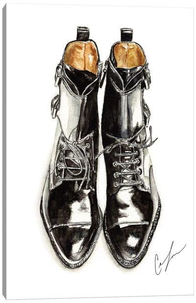Black Boots Canvas Art Print