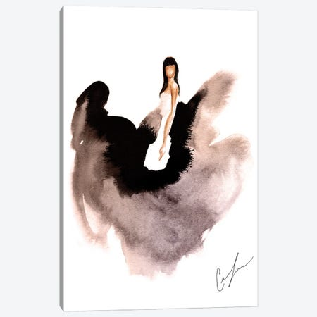 Black Swan Canvas Print #CTM9} by Claire Thompson Canvas Wall Art