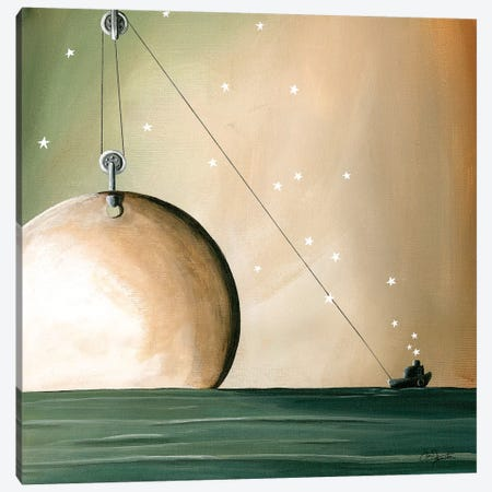A Solar System Canvas Print #CTN13} by Cindy Thornton Canvas Art