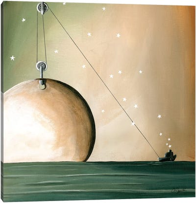 A Solar System Canvas Art Print