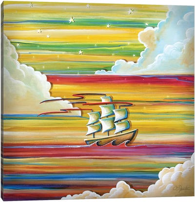 Off to Neverland Canvas Art Print