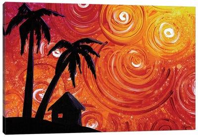 Seaside Lights Canvas Art Print