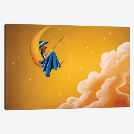 Blue Moon Canvas Print #CTN2} by Cindy Thornton Canvas Art Print