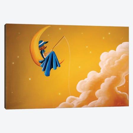 Blue Moon Canvas Print #CTN2} by Cindy Thornton Canvas Art Print