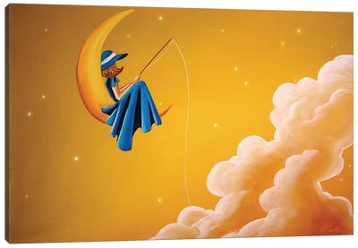 Blue Moon Canvas Art Print